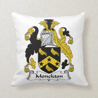 Escudo de la familia de Monckton Almohadas