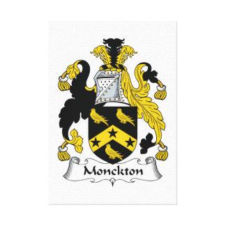 Escudo de la familia de Monckton Impresiones En Lienzo Estiradas