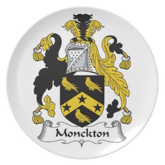 Escudo de la familia de Monckton Plato De Cena