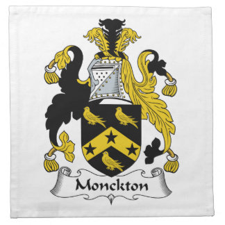 Escudo de la familia de Monckton Servilletas Imprimidas