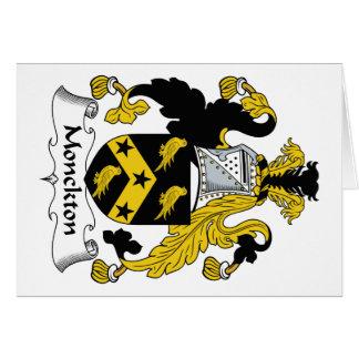 Escudo de la familia de Monckton Tarjeta De Felicitación