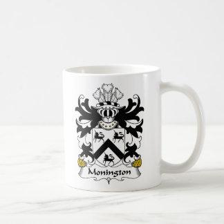 Escudo de la familia de Monington Taza Básica Blanca