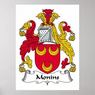 Escudo de la familia de Monins Impresiones