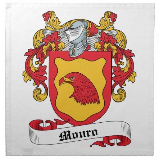 Escudo de la familia de Monro Servilletas