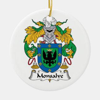 Escudo de la familia de Monsalve Ornamentos Para Reyes Magos