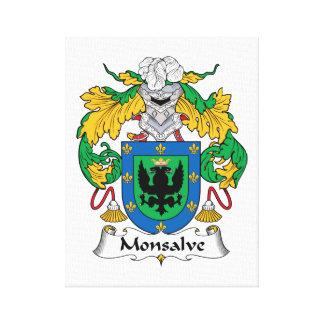 Escudo de la familia de Monsalve Impresion En Lona