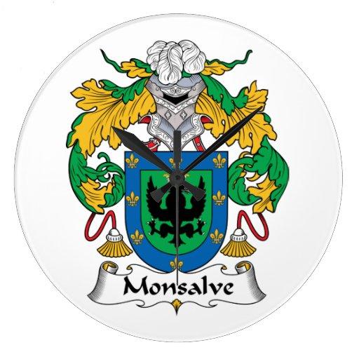 Escudo de la familia de Monsalve Relojes