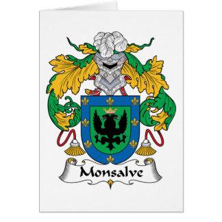 Escudo de la familia de Monsalve Tarjeton