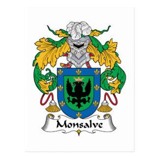 Escudo de la familia de Monsalve Tarjetas Postales