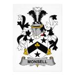 Escudo de la familia de Monsell Comunicado Personal