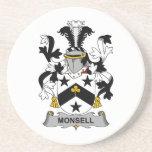 Escudo de la familia de Monsell Posavasos Para Bebidas