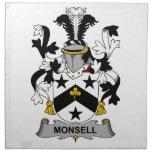 Escudo de la familia de Monsell Servilletas