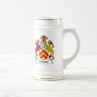 Escudo de la familia de Monson Jarra De Cerveza