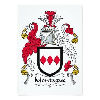 Escudo de la familia de Montague Invitación 12,7 X 17,8 Cm