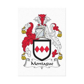 Escudo de la familia de Montague Impresion De Lienzo