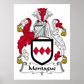 Escudo de la familia de Montague Poster