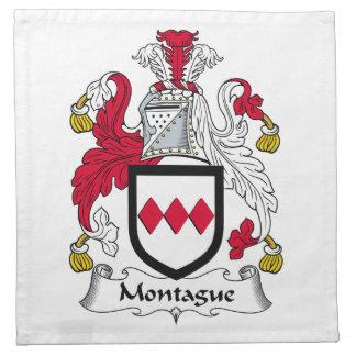 Escudo de la familia de Montague Servilletas