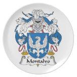 Escudo de la familia de Montalvo Platos