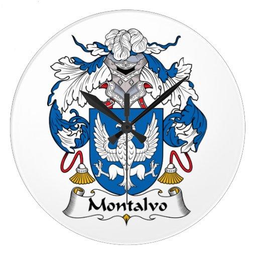 Escudo de la familia de Montalvo Relojes De Pared