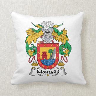 Escudo de la familia de Montana Cojines