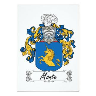 """Escudo de la familia de Monte Invitación 5"""" X 7"""""""