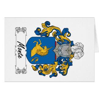 Escudo de la familia de Monte Tarjeta De Felicitación