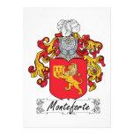 Escudo de la familia de Monteforte Anuncio Personalizado