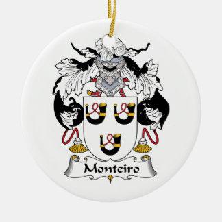 Escudo de la familia de Monteiro Adorno Redondo De Cerámica