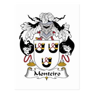 Escudo de la familia de Monteiro Postales