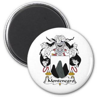 Escudo de la familia de Montenegro Imán Redondo 5 Cm