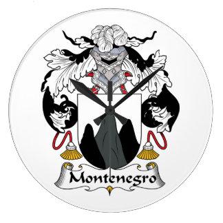 Escudo de la familia de Montenegro Reloj Redondo Grande