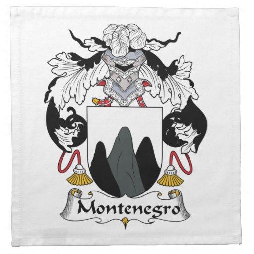 Escudo de la familia de Montenegro Servilletas Imprimidas