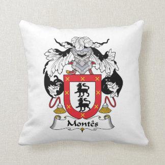 Escudo de la familia de Montes Cojín Decorativo