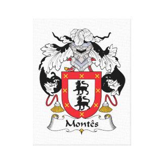Escudo de la familia de Montes Impresión En Lienzo