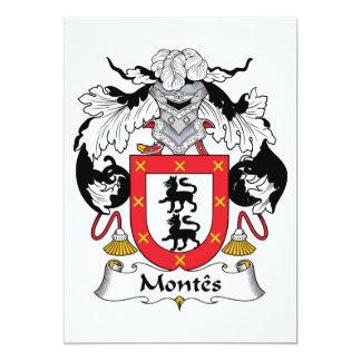 """Escudo de la familia de Montes Invitación 5"""" X 7"""""""