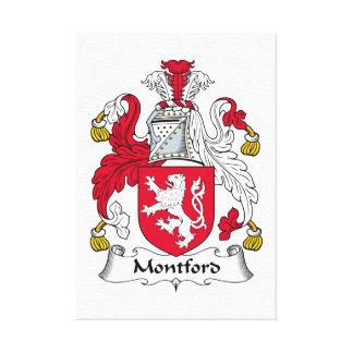 Escudo de la familia de Montford Impresión En Lona Estirada