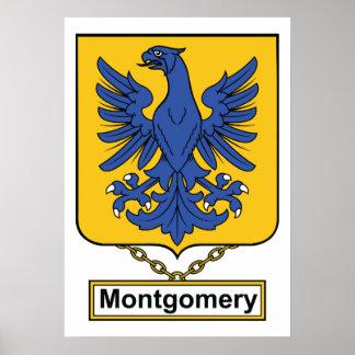 Escudo de la familia de Montgomery Póster