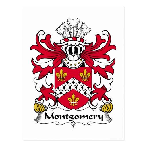 Escudo de la familia de Montgomery Tarjetas Postales
