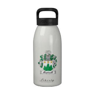 Escudo de la familia de Monticelli Botella De Agua Reutilizable