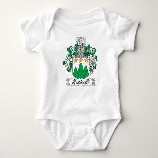 Escudo de la familia de Monticelli Body Para Bebé