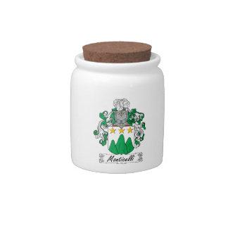 Escudo de la familia de Monticelli Plato Para Caramelo