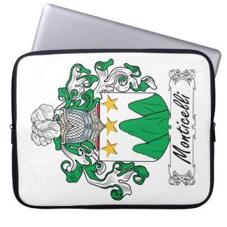 Escudo de la familia de Monticelli Fundas Portátiles