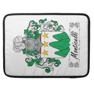Escudo de la familia de Monticelli Fundas Macbook Pro