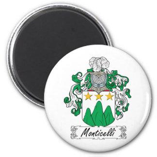 Escudo de la familia de Monticelli Imán De Frigorífico