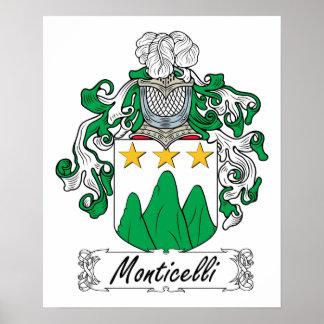Escudo de la familia de Monticelli Impresiones