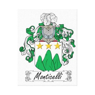 Escudo de la familia de Monticelli Lona Estirada Galerias