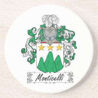 Escudo de la familia de Monticelli Posavasos Diseño