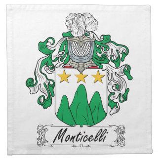 Escudo de la familia de Monticelli Servilleta De Papel