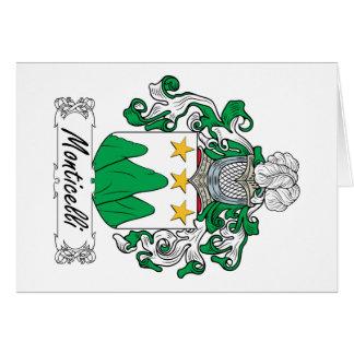 Escudo de la familia de Monticelli Tarjeta De Felicitación