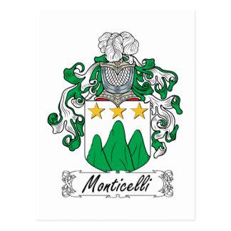 Escudo de la familia de Monticelli Tarjetas Postales